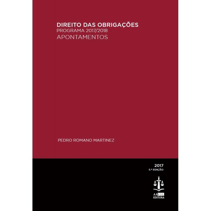 Direito das Obrigações - Programa 2017/2018 - Apontamentos