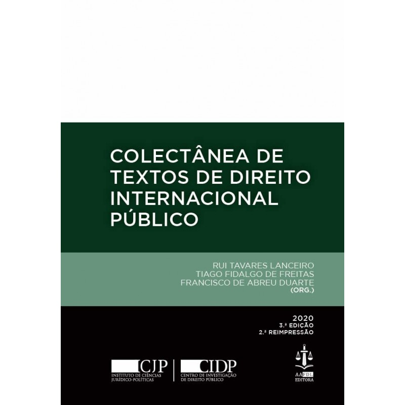 Colectânea de Textos de Direito Internacional Público 3.ª Edição