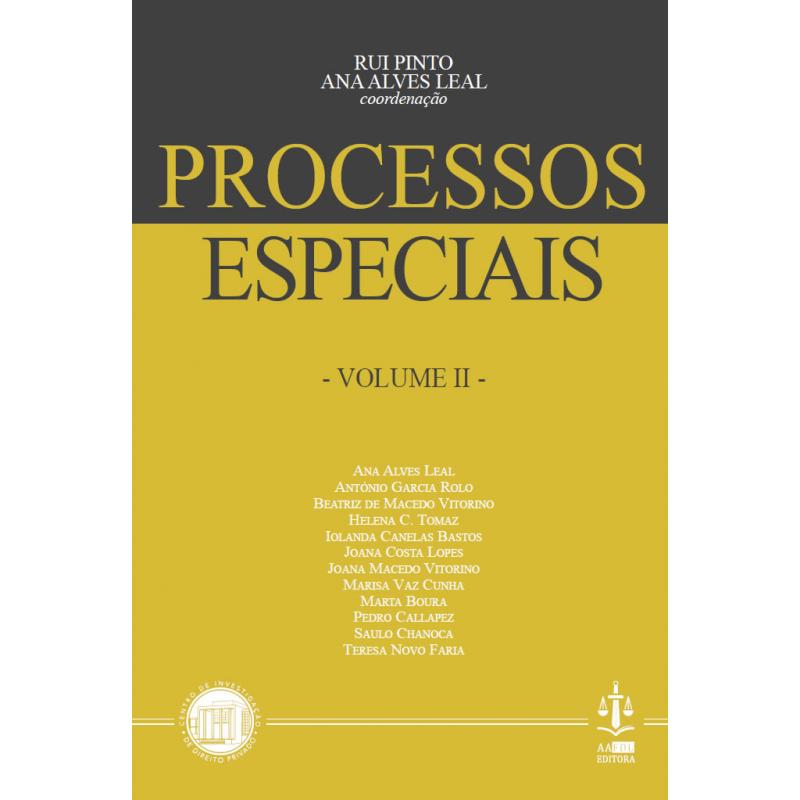 Processos Especiais Volume II