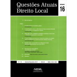 Questões Atuais de Direito Local N.º 16
