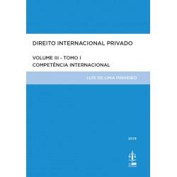 Direito Internacional Privado Volume III Tomo I - 3.ª Edição